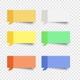 Kleverige het vakje van het nota vastgestelde bericht vector postnota Royalty-vrije Stock Afbeeldingen