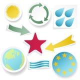 Kleverige inzameling van abstracte vormen. Vectorillus Royalty-vrije Stock Afbeelding