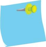 Kleverige nota en speld vector illustratie
