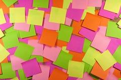 Kleverige nota's Stock Fotografie