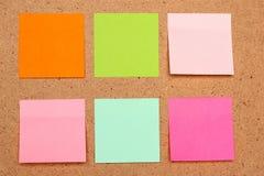 Kleverige nota's Stock Afbeeldingen