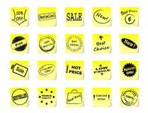 Kleverige nota's voor winkel Royalty-vrije Stock Fotografie