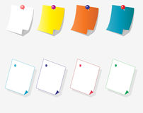 Kleverige papper Stock Afbeelding