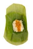 Kleverige rijst bedekte vissenvla Stock Afbeeldingen