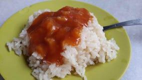 Kleverige rijst met kaya Royalty-vrije Stock Afbeeldingen