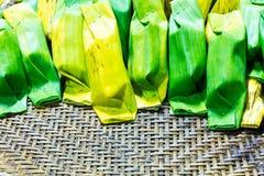 Kleverige rijst met taro Stock Afbeelding