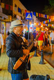 Klezmer Festival 30th in Safed Tzfat, Israel. SAFED, ISRAEL - AUGUST 23, 2017: Scene of the Klezmer Festival, with street musicians playing, in Safed Tzfat Stock Photography