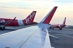 KLIA2 -亚洲航空飞行 免版税图库摄影