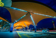 KLIA airport. Kuala lumpur international airport from different angle at night royalty free stock photos