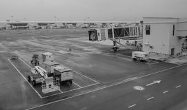 KLIA airport, Malaysia. KLIA airport in Malaysia. KLIA is the largest and busiest airport in Malaysia. In 2014, it handled 48,930,409 passengers and 753,899 Royalty Free Stock Photo
