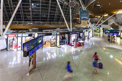KLIA Airport shuttle station and Free Taxes Shops Stock Photography