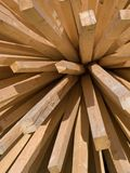 klibbar trä Arkivfoto