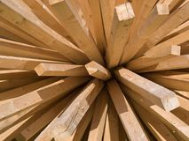 klibbar trä Arkivbilder