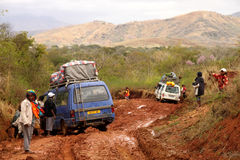 Klibbat i mud Royaltyfri Fotografi