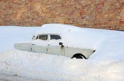 Klibbat i snowen Arkivbilder