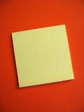 klibbig blank anmärkning Arkivbild