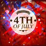 Klibbig design för amerikansk självständighetsdagenberöm stock illustrationer