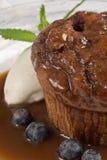 klibbig kola för cakepudding royaltyfria foton