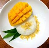 Klibbig mango för ris Royaltyfri Fotografi
