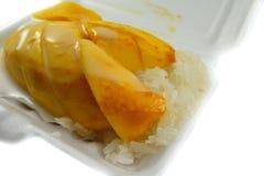klibbig mangorice Royaltyfri Foto