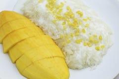klibbig mangorice Arkivfoto