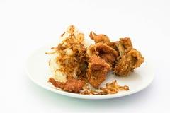 Klibbig stekt kyckling för ris royaltyfri fotografi