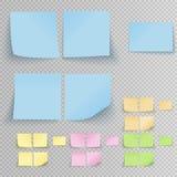 Klibbiga klistermärkear för kontor vektor illustrationer