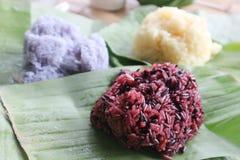 Klibbiga ris eller thailändska klibbiga ris Royaltyfria Foton