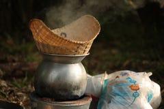 Klibbiga ris för ånga Arkivfoto