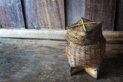 Klibbiga ris för thailändsk bambu Royaltyfri Bild
