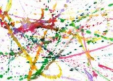 Klickar av målarfärg Arkivfoto