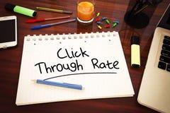 Klicken durch Rate Stockfotos
