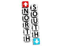 klicken Nord-Südknopf 3D hier Block-Text Lizenzfreie Stockbilder