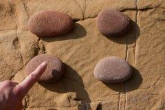 Klicken Sie ein einen Stein 02 Stockbild