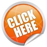 Klicken Sie hier Lizenzfreies Stockbild