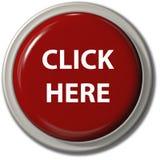 KLICKEN Sie HIER Tropfenschatten der roten Taste Lizenzfreie Stockfotografie