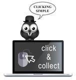 Klicken Sie und sammeln Sie stock abbildung