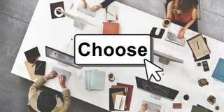 Klicken wählt addiert Knopf-Schnittstellen-Konzept lizenzfreie stockfotos
