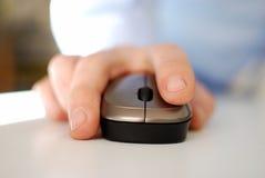 Klickende Maus Stockbild