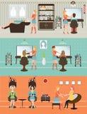 Klienci w piękno salonie Zdjęcie Stock
