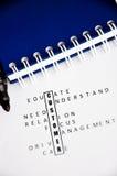 Klientów crosswords Zdjęcie Royalty Free