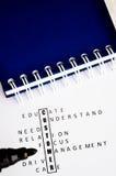 Klientów crosswords Zdjęcia Stock