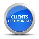 Klientów Testimonials round błękitny guzik ilustracji