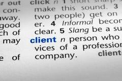 klient definicja Zdjęcie Stock