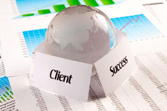 Klient = Erfolg stockfoto