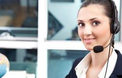klient handlowy operatora poparcie Zdjęcie Royalty Free