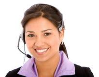 klient handlowy operatora poparcie Fotografia Royalty Free