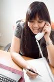 klient handlowy telefonu kobieta Fotografia Royalty Free