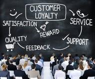 Klient lojalności satysfakci poparcia strategii pojęcie obrazy royalty free