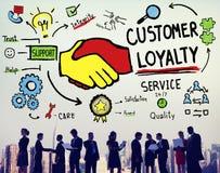 Klient lojalności satysfakci poparcia strategii usługa pojęcie zdjęcie stock